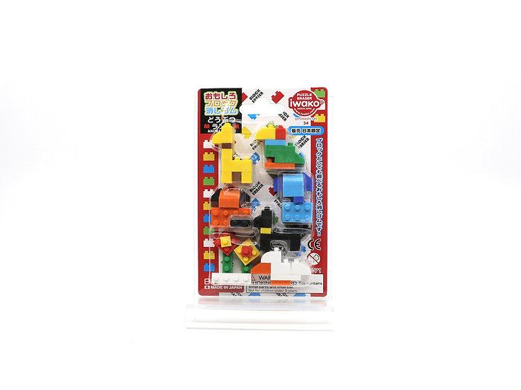 Iwako Block Animal Erasers