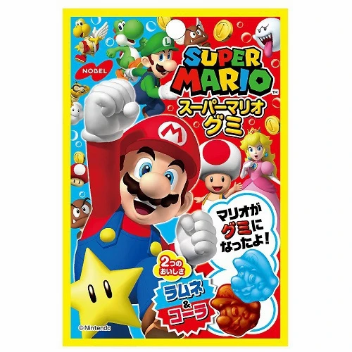 Super Mario Gummy Ramune & Coke