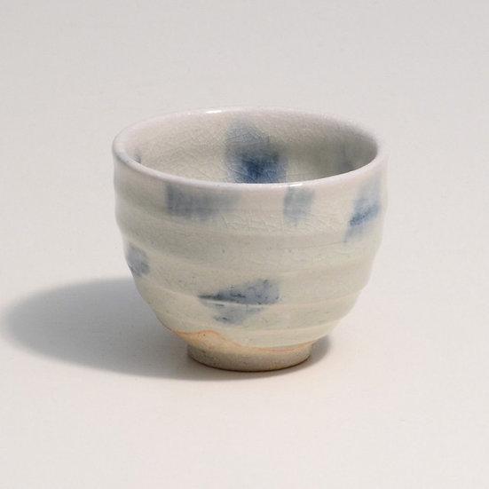 Shigaraki Ware Hechimon Blue Drop Tea Cup