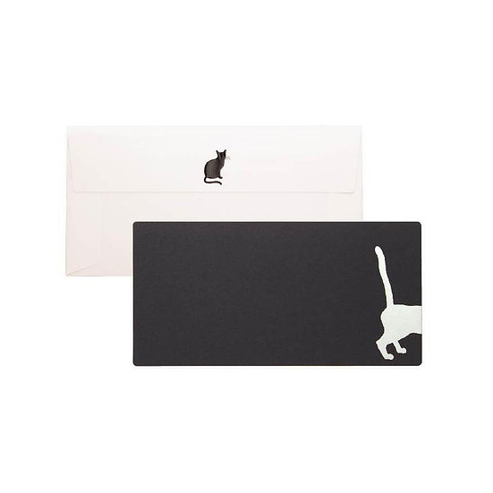 Cashico Embossed Rectangle Card, Cat