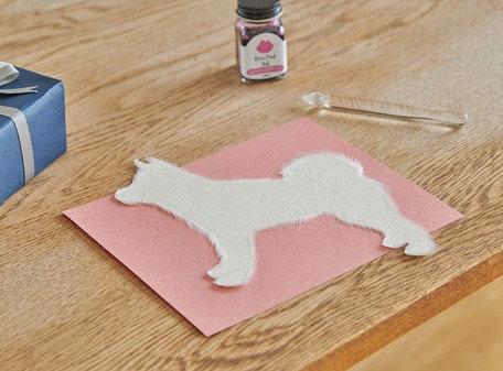 Handmade Washi Card Shiba