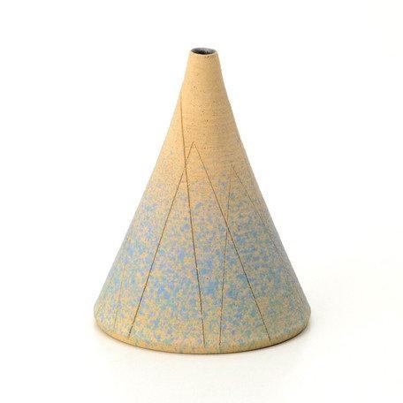 Shigaraki Ware Hechimon Lines Flower Vase