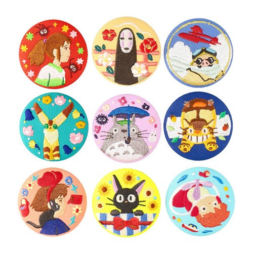 Studio Ghibli Embroidered Brooch Collection 2