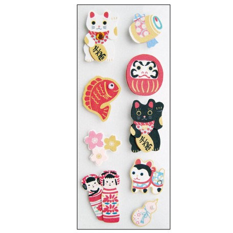 Handmade Sticker Japanese Style Lucky Charms