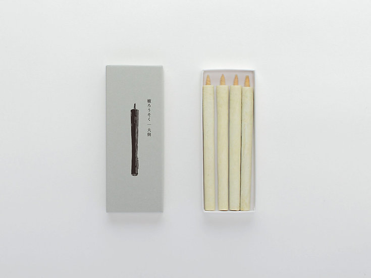 Daiyo Sumac Wax Candle White (4pack)