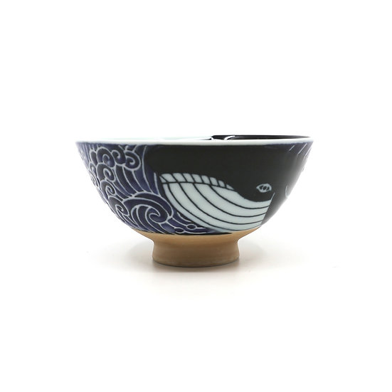 Waves Whale Japanese Rice/Soup Bowl S
