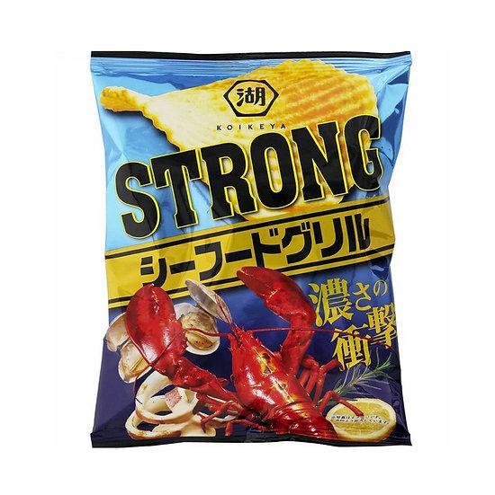 Koikeya Strong Potato Chips Seafood Grill