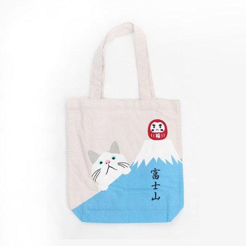 Tote Bag Cat Daruma