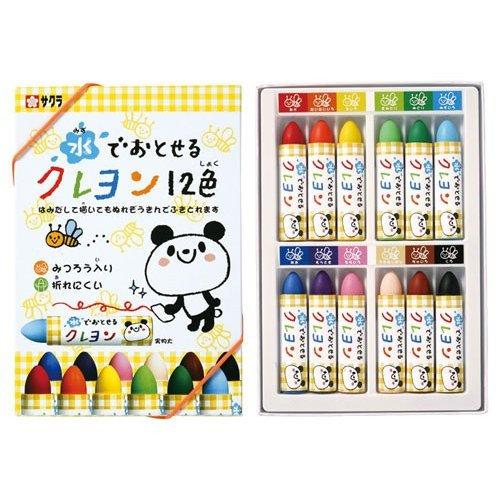 Washable Sakura Color Crayons Kids