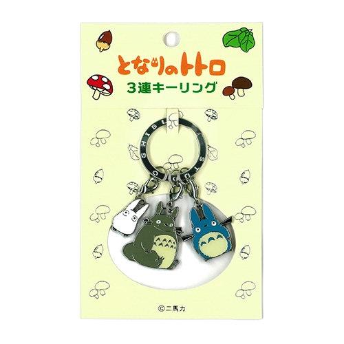 Studio Ghibli 'My Neighbour Totoro' Keychain Triple Totoro