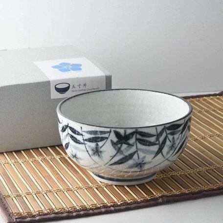 Mino Ware Bellflower Donburi Bowl