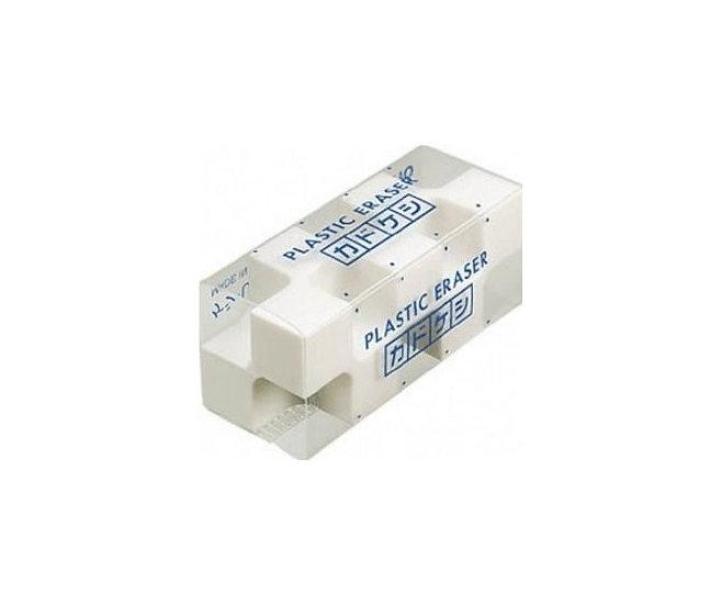 Kokuyo Kadokeshi Plastic Eraser White
