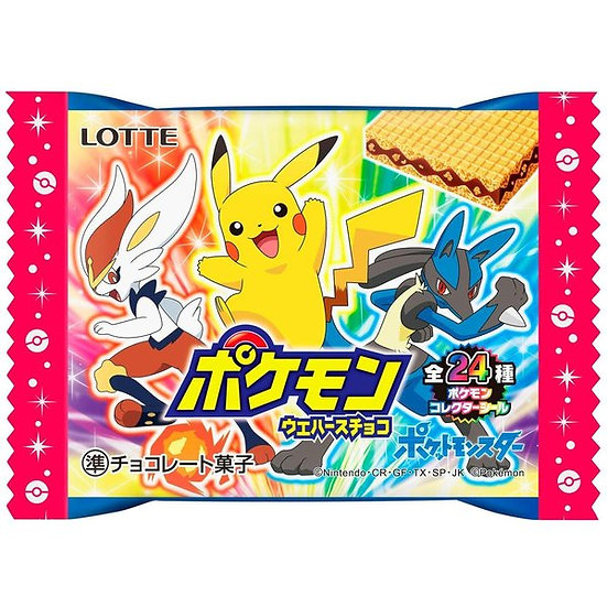 Lotte Pokemon Wafer Chocolate (with sticker)