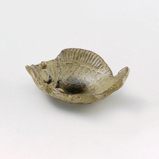 Shigaraki Ware Chinmi Plate Fish Soy