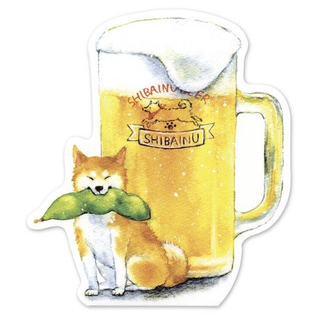 Shiba Inu Beer Card