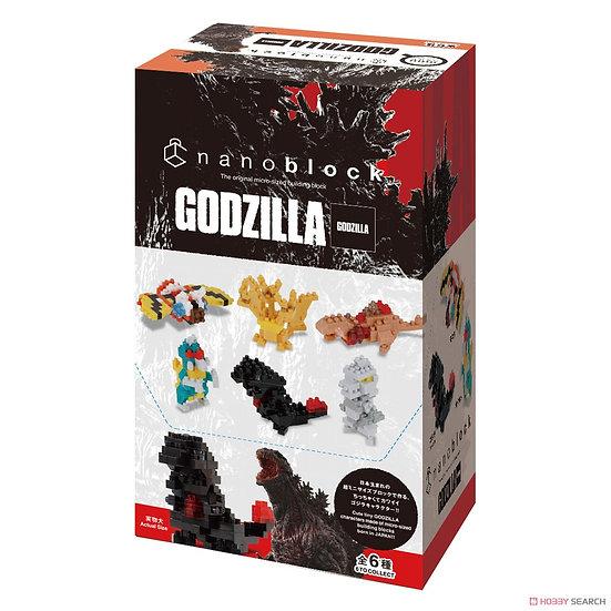 Nanoblock Godzilla set all 6
