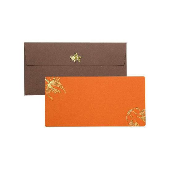 Cashico Embossed Rectangle Card, Goldfish