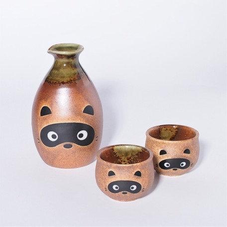 Sake set - Tanuki (Raccoon)
