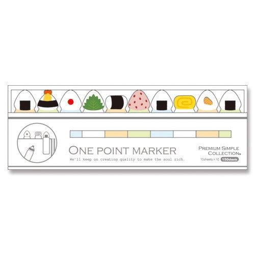 Mind Wave One Point Marker Onigiri Sticky Note