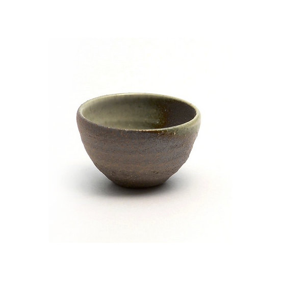 Shigaraki Ware Hechimon  White Glaze Roasting Sake Cup