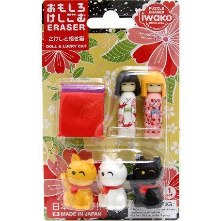 Iwako Beckoning Cat Eraser