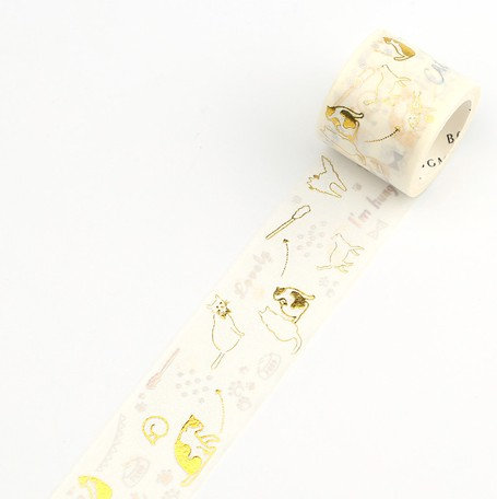 Washi Tape Foil Cat