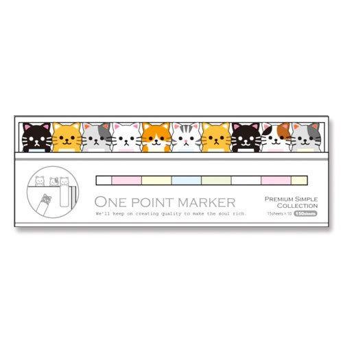 Mind Wave One Point Marker Cat Sticky Note