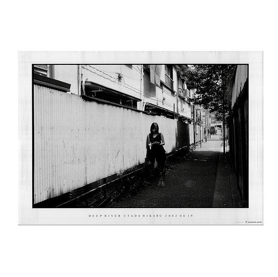 DEEP RIVER poster UTADA HIKARU photographed by Daido Moriyama