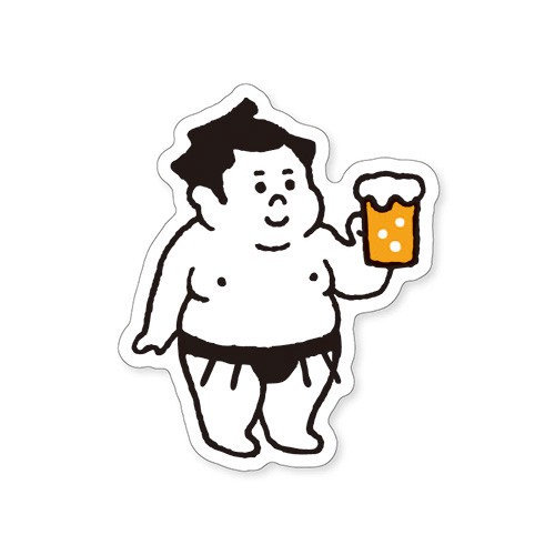 Mind Wave Collection Sticker 'Osumousans Beer'