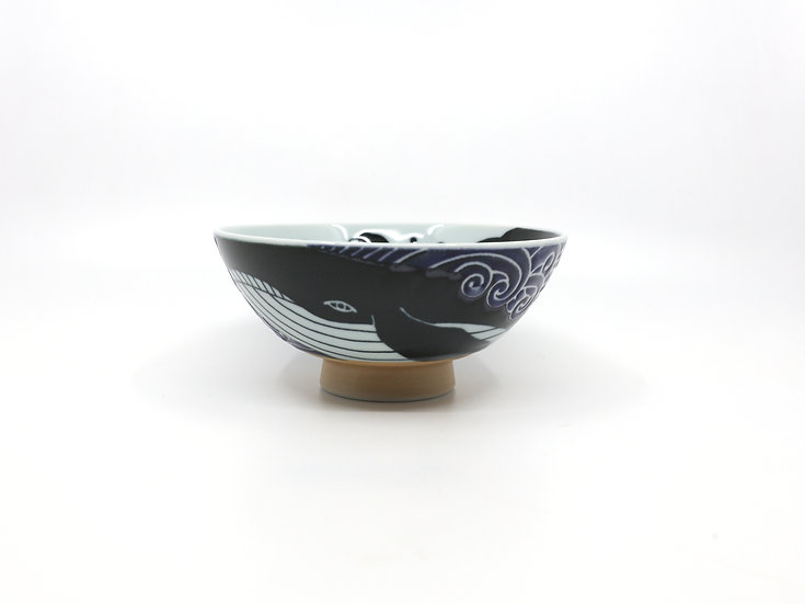 Waves Whale Japanese Rice/Soup Bowl M