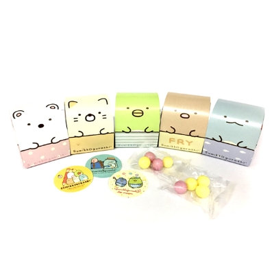 Sumikko Gurashi stickers with gum, palm-sized 3D package
