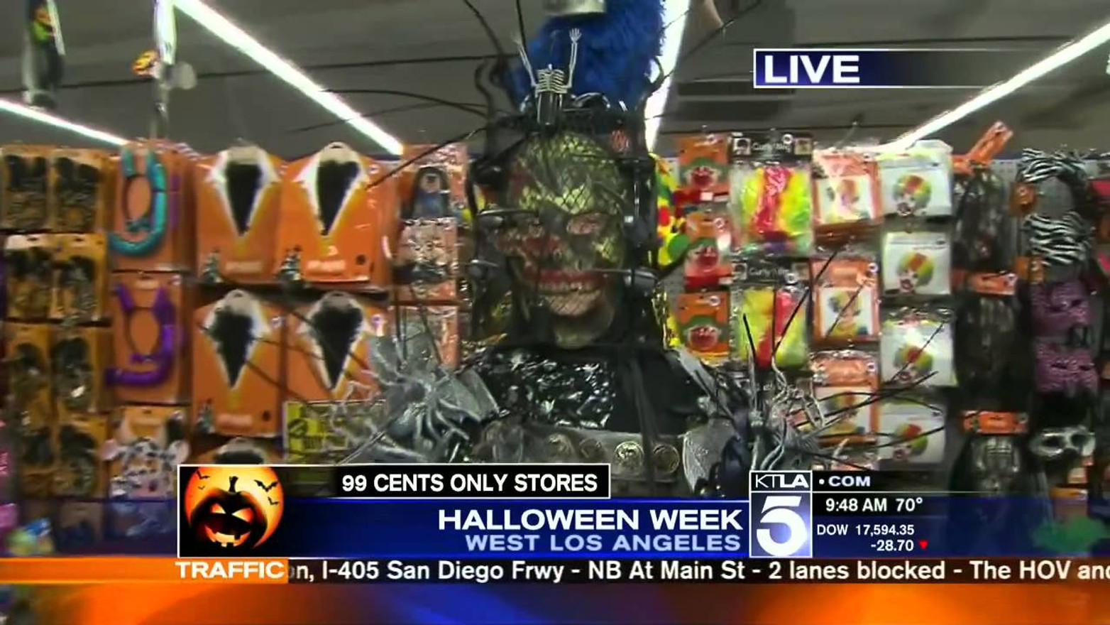 KTLA Halloween Special - 99 Cents Only Stores Costume Design