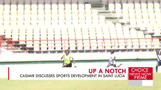 Sports Minister discusses interventions for the development of sports in Saint Lucia.