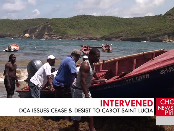 DCA issues cease and desist to Cabot Saint Lucia