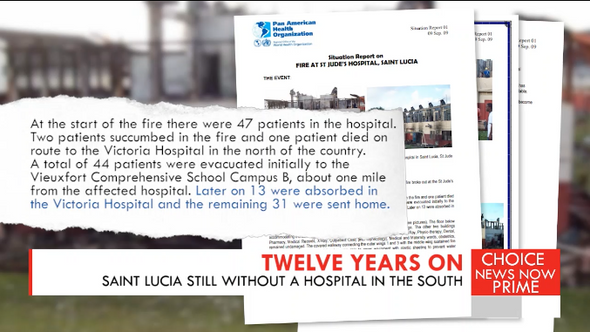Saint Lucia is still without a hospital in the South