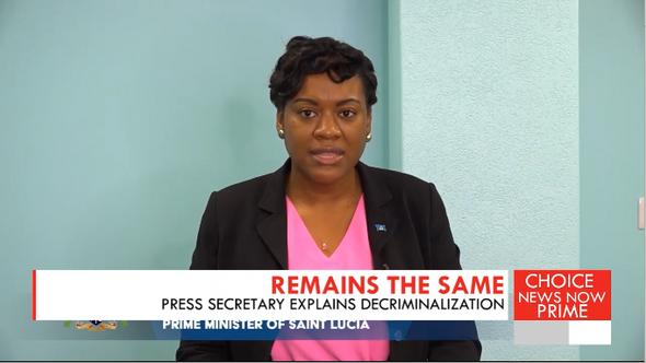 Press Secretary explains the PM's decriminalization statement.