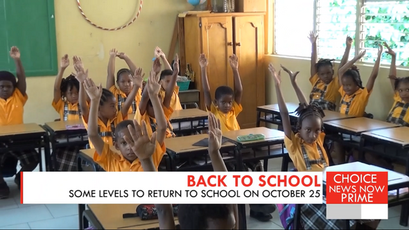 SOME LEVELS TO RETURN TO SCHOOL ON OCTOBER 25