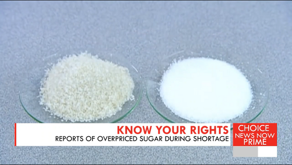 Reports of overpriced sugar during shortage