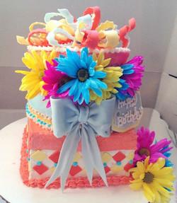 Facebook - Open Gift Box Birthday Cake- layered french vanilla cinnamon swirl ca