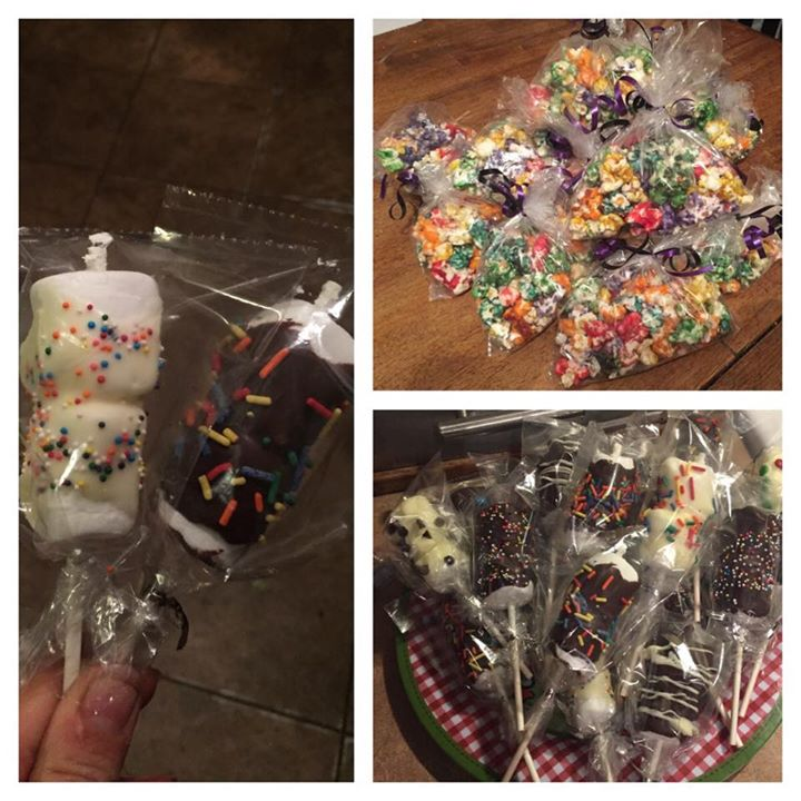 "Facebook - ""Bibble"" and Chocolate Marshmallow Pops bagged up and ready for the M"