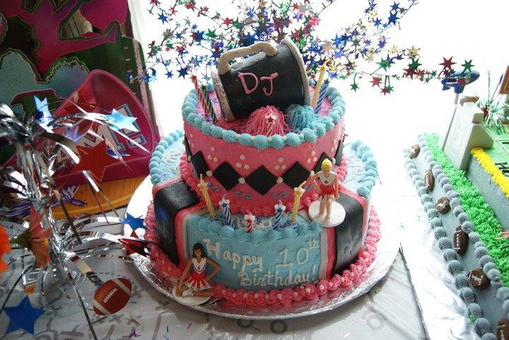 Facebook - Desiree's Jock-Jams  Cheerleader B-day Cake Chocolate Cake with Butt