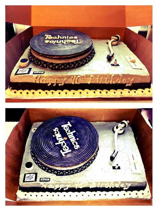 Facebook - DJ Turntable 40th Birthday Cake & cupcakes ;) (And yes, the record ac