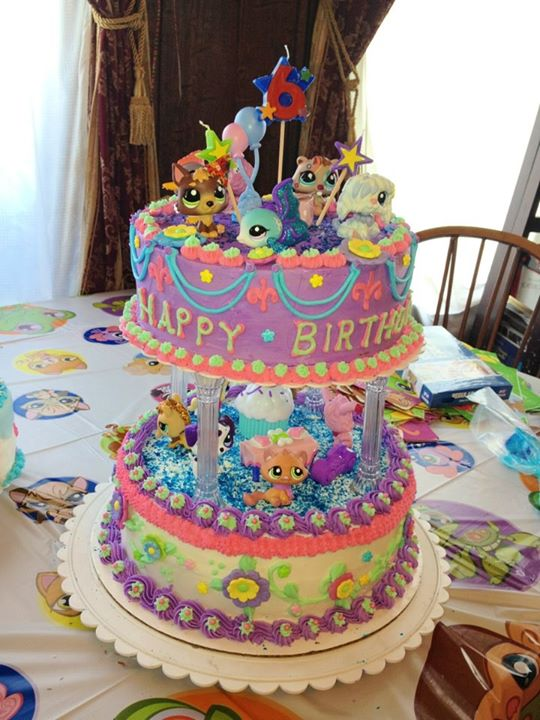 Facebook - Dasia's Littlest Pet Shop Birthday Cake: layer lemon and French vanil