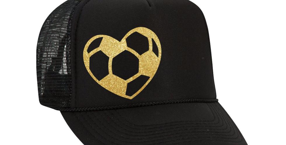 Soccer Heart Hat