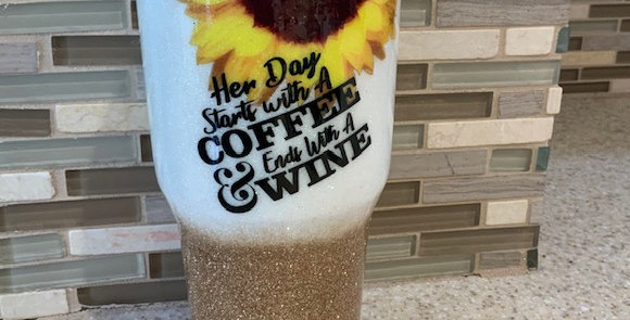 Her Day Starts With A Coffee & With A Wine Tumbler