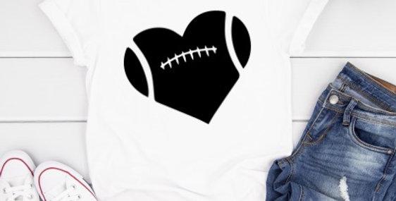 Football Heart Shirt