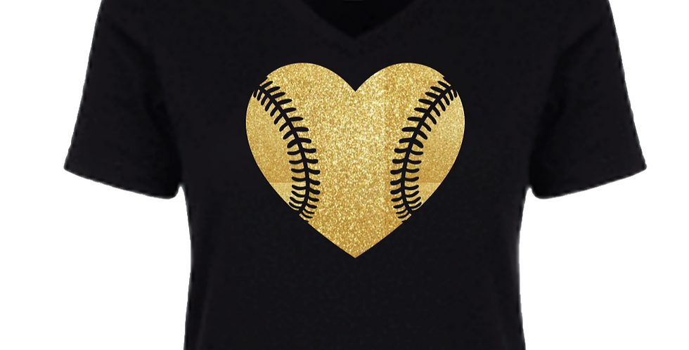 Baseball Heart Shirt