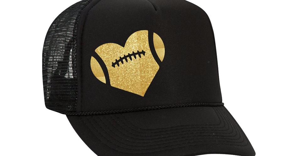 Football Heart Hat