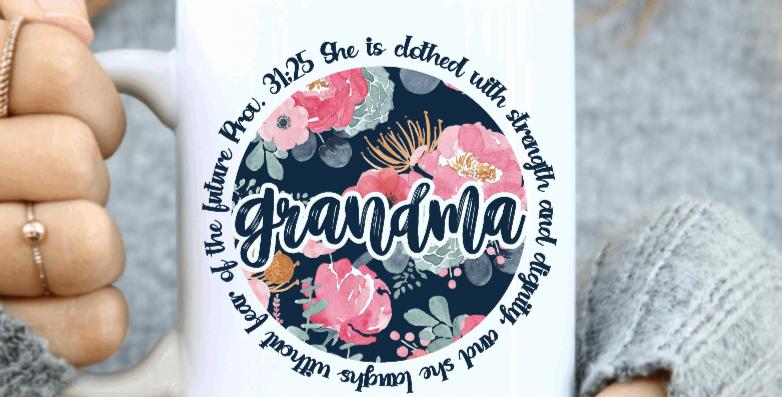 Proverbs 31:25 Grandma Coffee Mug