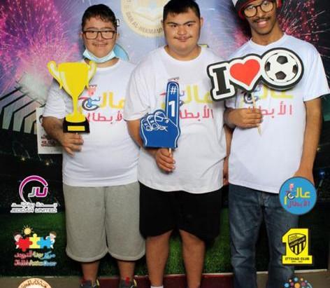 إحتفالنا باليوم العالمي للإعاقة  مع نادي الإتحاد السعودي و جامعة دار الحكمه و نادي جده يونايتد